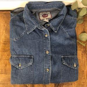 CLC Men's Size 18/20 Western Jean Shirt